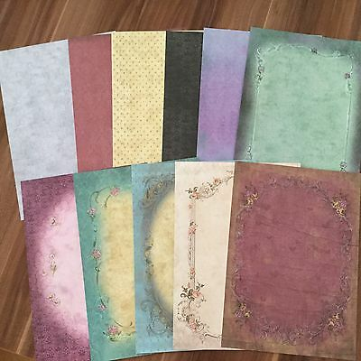 GORJUSS Vintage Rose  A4-Papierset, elf Teile, ideal für Layouts