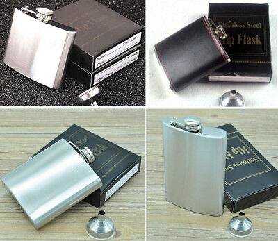 Stainless Steel Liquor Hip Whiskey Alcohol Pocket Flask With Portable Funnel