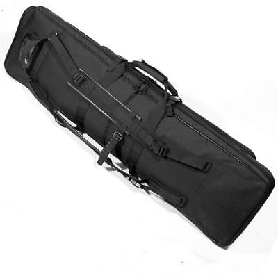 """Protec 39"""" Deluxe Airsoft Hunting Rifle Carry Case Black and Woodland Camo"""