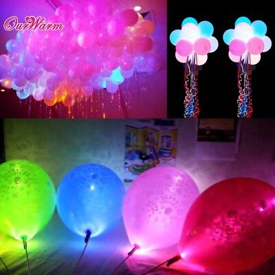 100pcs/lot Colorful LED Lamps Balloon Lights for Paper Lantern Balloon Christ...