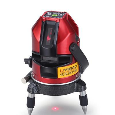 Red Light Automatic Self Leveling 2 Line 1 Point Laser Level Measure Tool