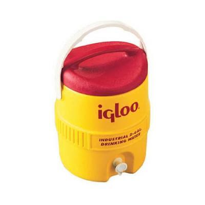 Igloo 421 2-Gallon Safety Yellow/Red Plastic Commercial Water Cooler - Quantity
