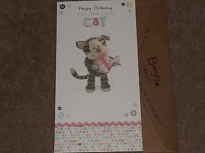 """BOOFLE.. """".HAPPY BIRTHDAY FROM YOUR LOVELY CAT """"...Super Cute Card-See Photo's"""