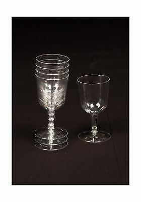 12 X 120ml Clear Plastic Disposable Party Wine Gl Goblet