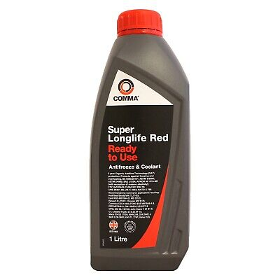 Comma Super Longlife Antifreeze / Coolant - Ready To Use (SLC1L) - 1 Litre