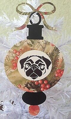 Pug Christmas Ornament Gift Set --- Set of Five (5) Different Designs