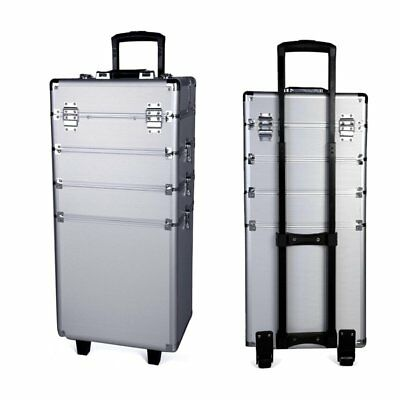 Beauty Rolling Makeup Trolley Train Case Organizer Cosmetic Box Wheeled Lockable