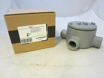 """Oz/gedney Guax75  3/4"""" Explosion Proof Type Gua Outlet Box  Grx75  Guax26"""