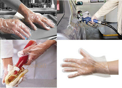 1 100 500 1000 Disposable Polythene Plastic Cleaning Catering Transparent Gloves