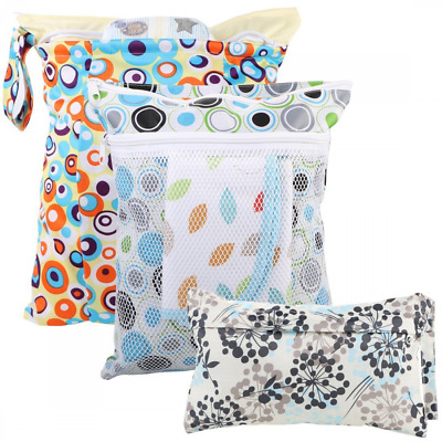 kilofly Baby 3pc Waterproof Cloth Diaper Travel Wet Dry Bags Reusable Travel Kit