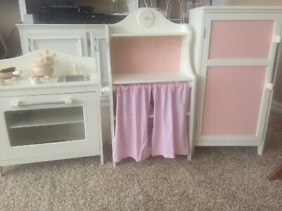 POTTERY BARN Kids USED Farmhouse Play Kitchen Sold As Set Only - Pottery barn kitchen set used