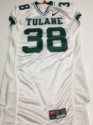 newest 07445 37fee GAME WORN USED Nike Tulane Green Wave Football Jersey #38 Size L