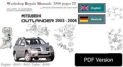 workshop manual mitsubishi outlander zg zh 2 4l service repair rh picclick co uk