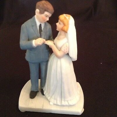 "Norman Rockwell Porcelain ""BRIDE AND GROOM"" 1986 Museum Collections VTG  4.25"""