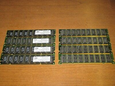 GENUINE IBM SERVER P SERIES 1.024GB ( x8 ) 128MB 16MX72 10NS RAM MEMORY 20H1565