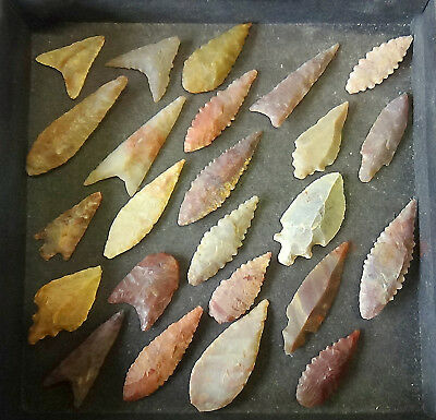DISCOUNTED!! FANTASTIC QUALITY Neolithic Flint arrow heads, be quick,ONLY £5.99