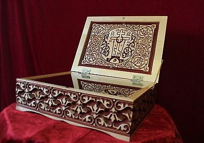 Reliquary box Orthodox Carved Wooden. Rare.