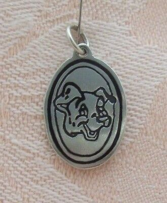 """Vintage TRAMP ~ DOG FROM DISNEY'S """"LADY AND THE TRAMP"""" Sterling Silver Charm"""