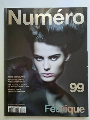 Magazine mode fashion NUMERO french #99 décembre 2008 Féerique