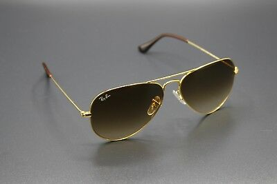 Ray-Ban Aviator Gold / Brown Gradient RB 3025 001/51 New Sunglasses 58mm RB3025