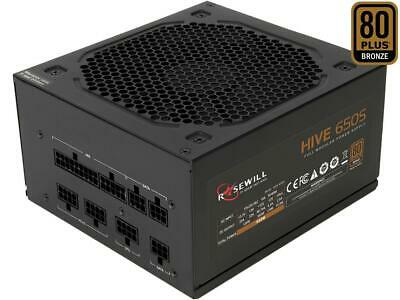 Rosewill Hive Series 650W Modular Gaming Power Supply, 80 PLUS Bronze Certified,