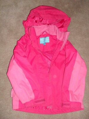 Girls Mountain Warehouse Water Proof Rain Proof Pink Coat Jacket Age 5-6