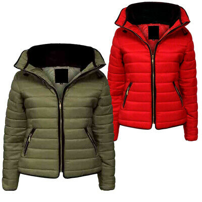 Kids Girls Jacket Parka Coat Padded Hooded Quilted Thick Warm Bubble Age 7- 13