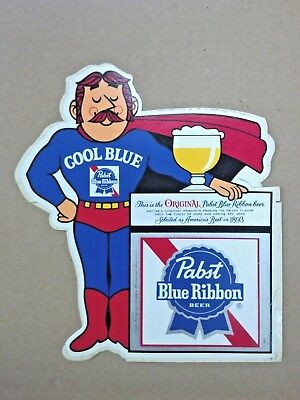 """PABST BLUE RIBBON BEER, COOL BLUE, STICKER, AMERICAS BEST IN 1893, LARGE 7"""" x 6"""""""