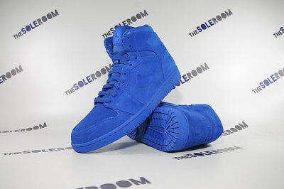 Nike Air Jordan I 1 Retro High Blue Suede 332550-404 US 8-12 Men's Team Royal