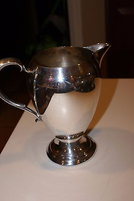 "Vintage Sheets Rockford Silver Co Silverplate Water Pitcher 8""H X 4""D(Top)"