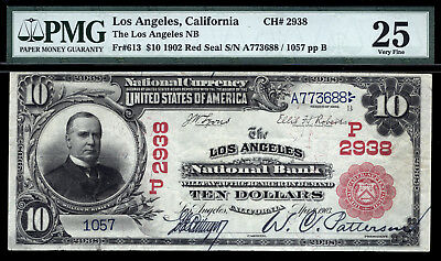 $10 1902 Red Seal The Los Angeles National Bank, California CH 2938 SUPER RARE