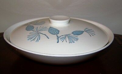 "Marcrest Stetson Blue Spruce 10"" Round Covered Vegetable Bowl & Lid Vintage"