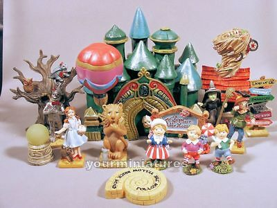 Mini World Wizard of Oz Fairy Garden Figures Dorothy,Wicked Witch,Emerald City+