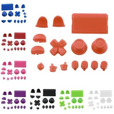 Replacement Buttons Custom Kit For PS4 Playstation 4 Controller Solid Color HY