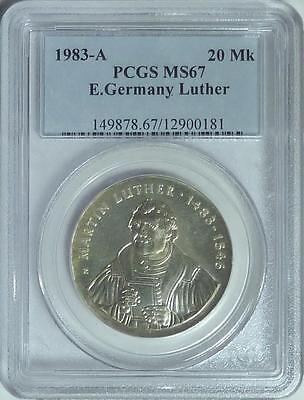 CHEAP!  East Germany 1983-A 20 Mark, Martin Luther, PCGS MS67