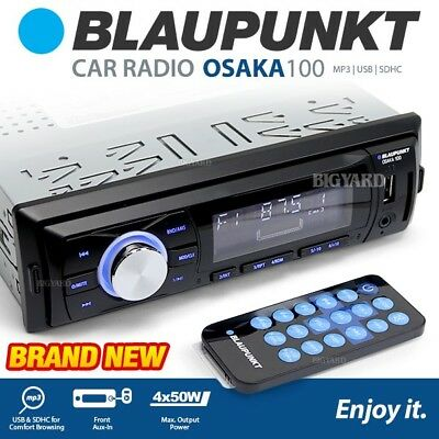 BNIB BLAUPUNKT Osaka 100 Mechless Non CD Player USB SD AUX Car FM Radio Stereo