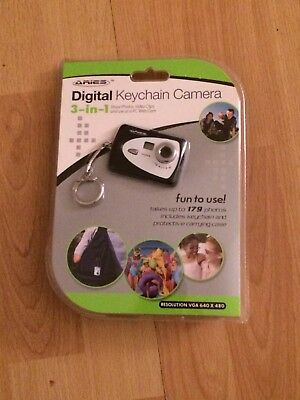 Digital Keychain Camera Shoot Photos Video Clips, & Use As A PC Web Cam New