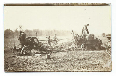 AZO RPPC: Stickney Hit Miss Gas Engine St. Paul, MN Farming post card photo