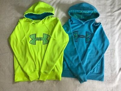 Small Lot Of 2 Adult Under Armour Hoodies (Size Small And Medium)!