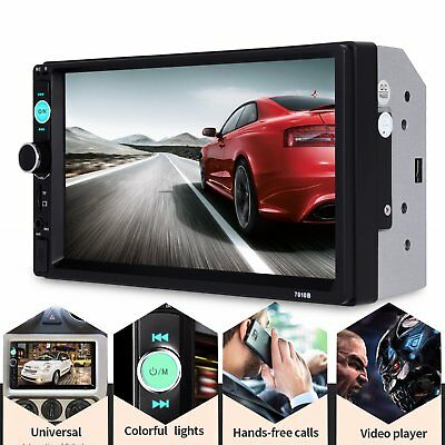 Car In-Dash Bluetooth 7'' HD 2 DIN Head Unit MP3 MP5 Player Stereo FM Radio USB