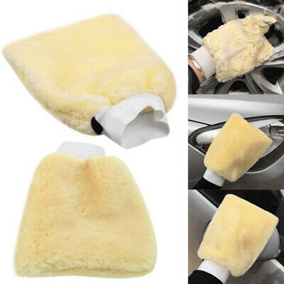 1pcs Microfiber Plush Car Soft Mitten Detailing Washing Glove Cleaning Tool
