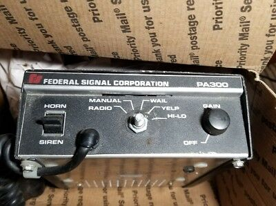 Federal Signal PA300 Series Siren Control Box Police volunteer firefighter used