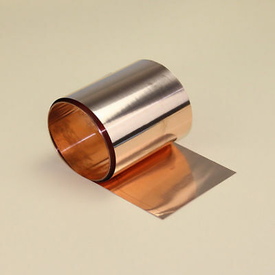 1pcs 99.9% Pure Copper Cu Metal Sheet Foil Plate Strip 0.1mm*30mm*1000mm