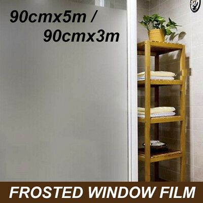 Sand Blast Clear Privacy Frosted Removable PVC Window Glass Film 3M 5M AU SELLER