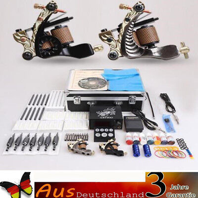 Profi Tattooset Komplettset 2 Rotary Tattoomaschine Tattoo Set Tattoofarbe