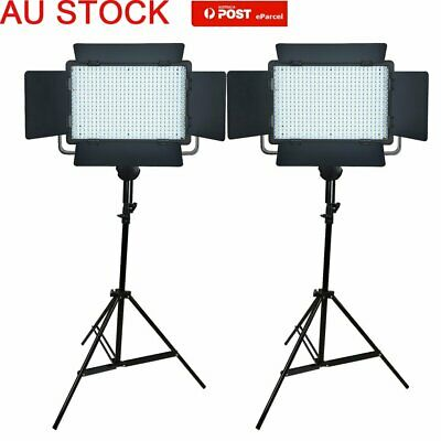 AU 2*Godox LED500C Camera Video Wedding Continuous Lighting With 2m Stands Kit