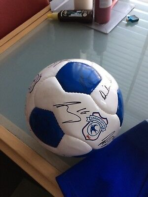 Cardiff City FC Autographed football Season 14-15