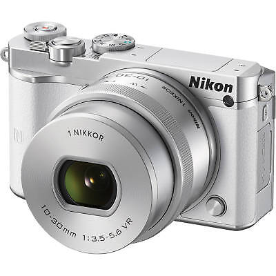 Nikon 1 J5 Mirrorless Digital Camera w/ 10-30mm PD-ZOOM Lens White Advanced