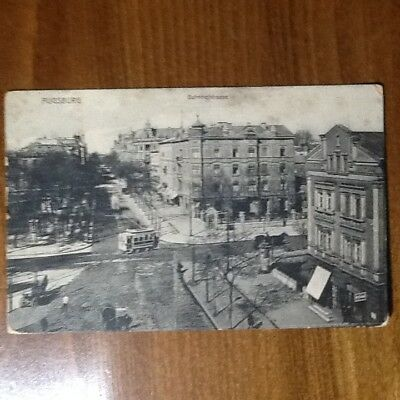 1907 - Augsburg - Bahnhofstrasse, Tram Carriages With Horses - Old Postcard