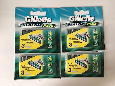 Gillette Slalom Plus - 4 Packs each with 3 Blades (4 x 3)